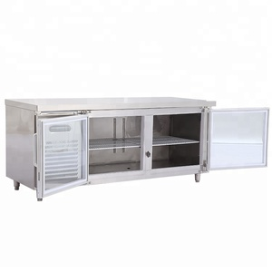 304 SS steel under counter refrigerator restaurant kitchen equipment