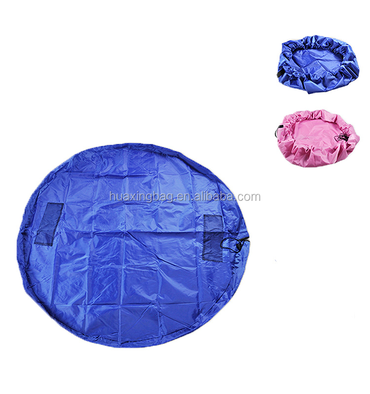 60 Inch Nylon Blue Large Portable Children Play Mat Toys Storage Bags