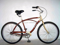 "26"" steel men beach cruiser bicycle for audlt with caliper brake"