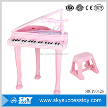 Latest design small pink musical instrument children toy electronic organ