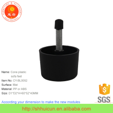 Cone Type Plastic OEM ODM Customized Cast Iron Stove Leg