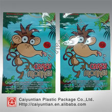 Hot sale Crazy monkey herbal incense bag/ 5g crazy monkey potpourri bag witt top zip