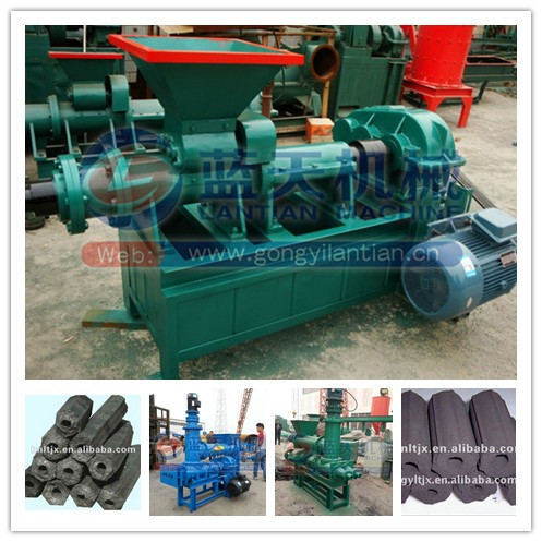 Lantian plant hot sale charcoal bars briquette machine coal rod making extruder machine