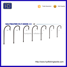 High Quality 500 High Carbon Steel Saltwater Fly Fishing Hook