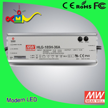Waterproof IP65 meanwell 36 volt led driver HLG-185H-48A
