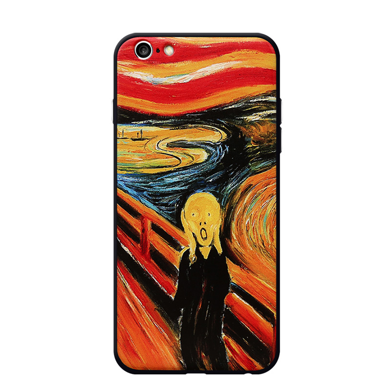 Famous Oil Painting Special Style Mobile phone case cover for iphone 6 6S 6Plus TPU PC combo
