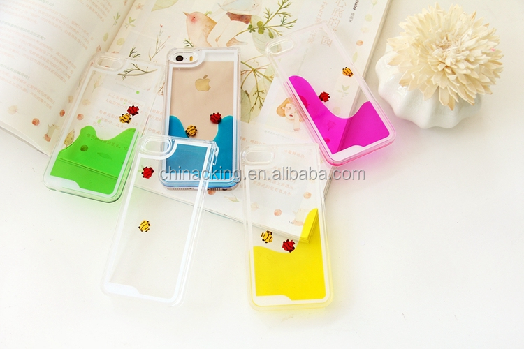Liquid Quicksand Hard PC Case Floating Glitter Dynamic Crystal Case For iPhone 6 6 plus 5.5 iphone 5s