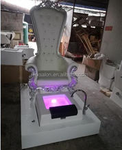Hot Sale Top Luxuary White Spa Chair Pedicure Chair With Sink