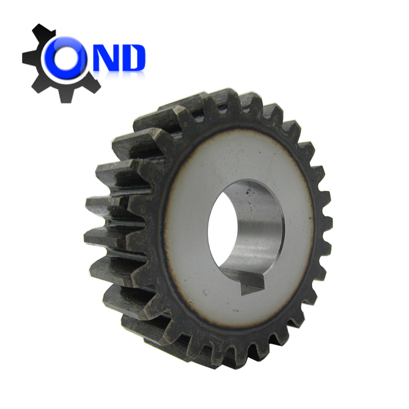 Hobbing processing spur gear for CNC machine