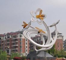 large metal bee Sculpture