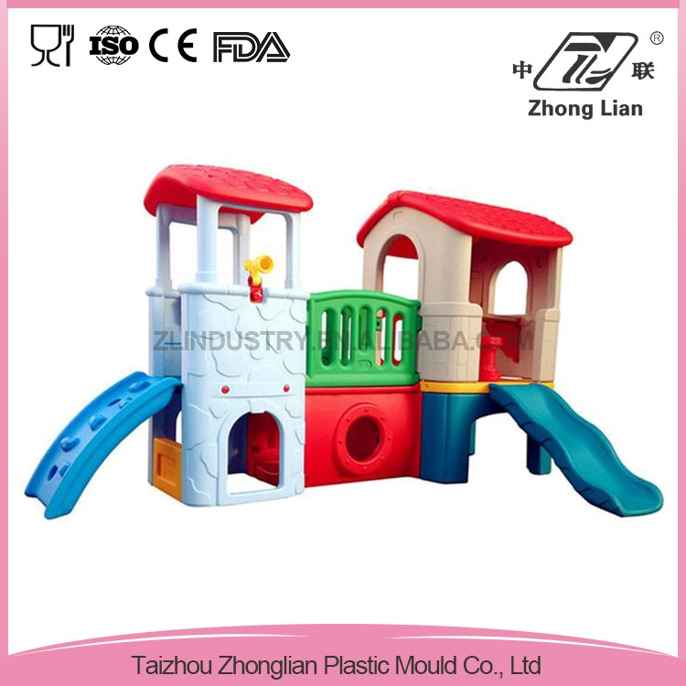 China market different color plastic swing and childrens slides