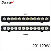 "20"" 120W LED Light bar Offroad Car 12V single row for 4x4 offroad"