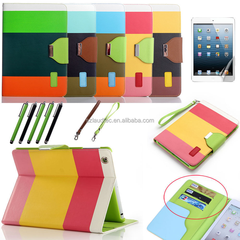 colorful leather case for ipad pro , leather tablet case for ipad air 2