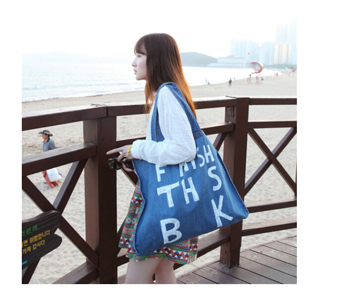 Ladies canvas shoulder Bag Women Tote Hand bag Lady Handbag 2016