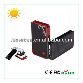 2012 new hottest universal portable mobile charger 3000mA with efficient solar panel