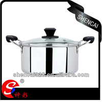 High Quality Popular 22cm Stainless Steel Cooking Pot / Sauce Pot / Casserole