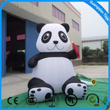 Guangqian New Design Inflatable Cartoon Character Inflatable Panda Toy