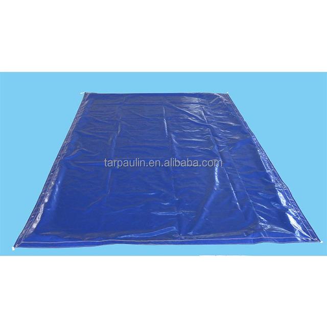 blue waterproof dust proof pvc coated fabric cover tarpaulin