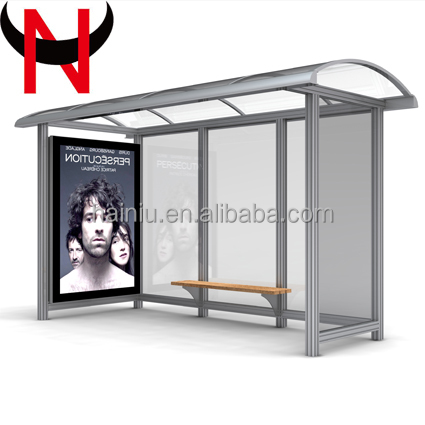 street furniture Solar Power Bus Stop Shelter