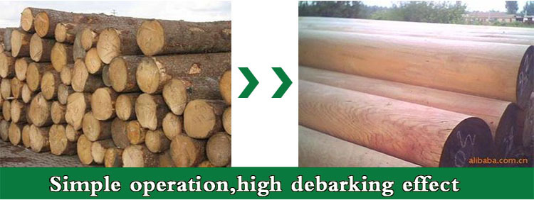 Made in China log/tree/wood debarking machine