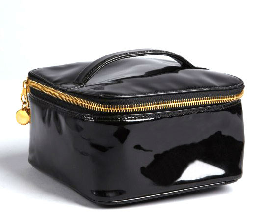 fashion patent leather cosmetic bags