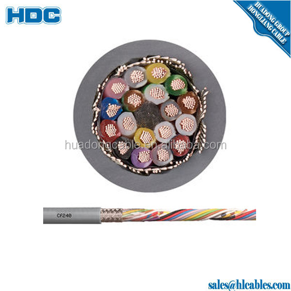 20AWG and 22AWG Stranded Tinned Copper Conductor , HDPE Insulation , Tinned Copper Wire Braided PVC Jacket ETHERNET DROP CABLE