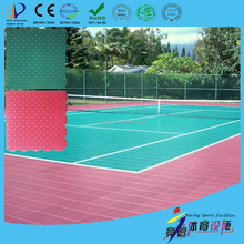 high impact and good rebound portable tennis court sports flooring with gridded surface