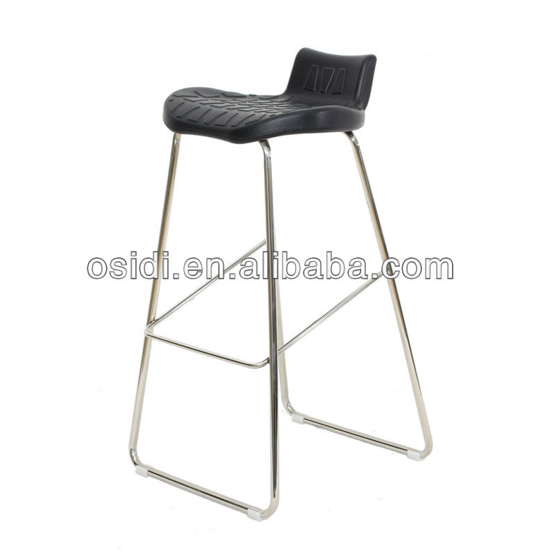 Mold PU seat bar stool Stainless steel fixed bar stool sale