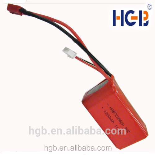High discharge rate HGB723562 11.1V 1200mAh Lipo Batteries for RC boat