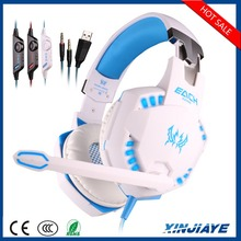 Factory Price G2100 USB+3.5MM Wired headband Stereo Gaming headphone with Led Noice cancelling for pc/ps3/ps4/computer