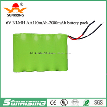 Cheap price 7.2v nimh aa 1500mah battery pack /7.2v cordless phone battery