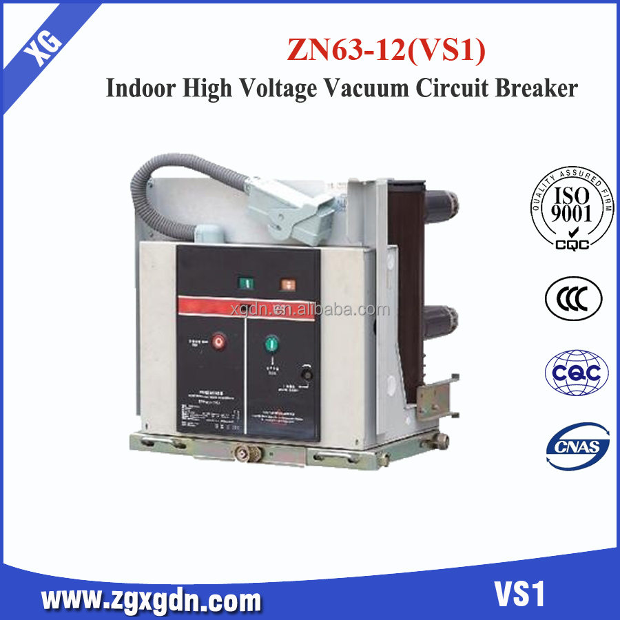 Operation Of Zn63(vs1)-12 Vcb Typical Parts Of 12 Kv Power Pressure Vacuum Circuit Breaker Manual Operation