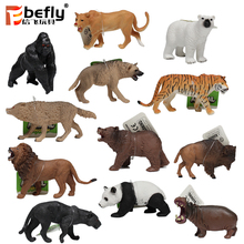 12 kinds mixed 3d model figurines plastic wild animal toy for kids educational