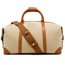 Hot sales fashioan satchel duffel bags for travelers men's traveling bag canvas suitcase holdall