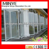 Doulbe glazing glass folding door for bedroom,house