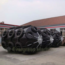 Aircraft tire netted Foam filled fenders for boat with pu skin