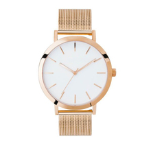 Gold Plated Watch 18k Gold Watches Ladies Wrist Watch With Stainless Steel Mesh Strap
