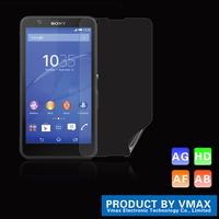 High Quality Premium PET high Clear Screen Protector/Screen guard For Sony E4