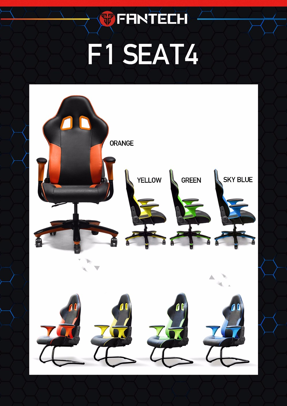 PC gaming chair gaming seat hair for gamer racing chair