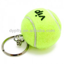 Factory made tennis ball keychain