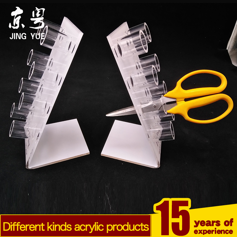 acrylic hair salon scissors display stand,Acrylic Holes Display Stand for scissor