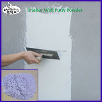home interior decoration with white putty powder