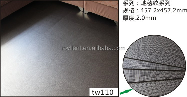 simple color surface treatment and indoor usage 3d pvc floor tile/flooring