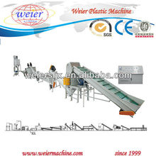 PET recycling production line for plastic chips and PSF production line.