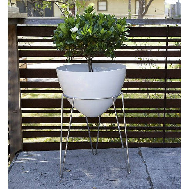 Steel metal type 16 inches flower planter stand for display