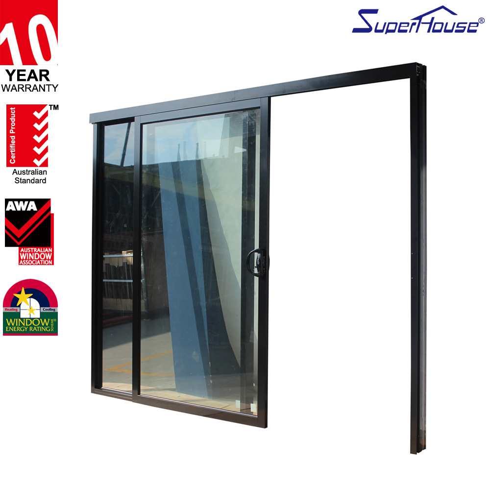 Australian standards AS/NZ2047 decoration interior top hung sliding door with double glass