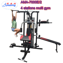 Fitness Equipment 3 Station Home Gym/gym master home used/Multi home gym with lat pulldown ,leg press,and sit up bench
