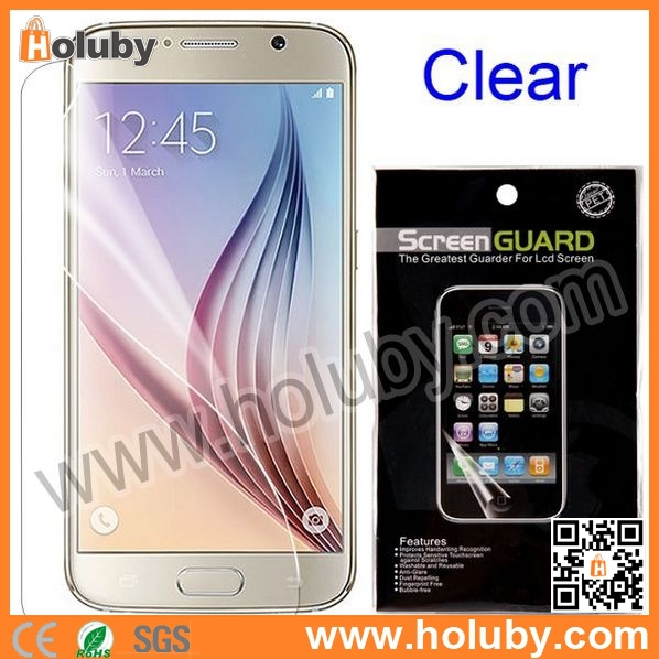 China Cheapest Wholesale PET Clear/Frosted LCD Screen Protector for Samsung Galaxy S6 Film Guard by PayPal