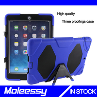 3 in 1 shockproof heavy duty case for Ipad Air/Ipad 5 protect skin rubber hybrid cover stand for Ipad Air/Ipad 5