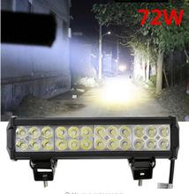 12 inch 5700LM 72W LED Light Bar offroad Truck Trailer 4x4 4WD SUV ATV Off Road Spot Lamp Flood Spot Combo Beam Fog Light